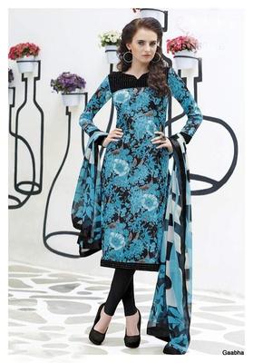 Blue GeorgetteSemi Stitch Dress