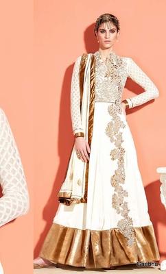 White Georgette Semi Stitch Dress