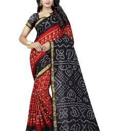 Buy Multicolor silk saree with blouse bandhani-sarees-bandhej online