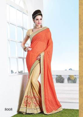 Fancy Heavy Embroidery saree