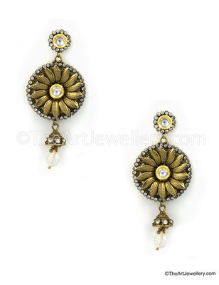 Clear Traditional Rajwadi Drop Earrings Jewellery for Women - Orniza