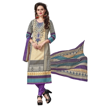 Multicolor printed cotton salwar