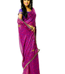 Buy Bengal sequins work saree without blouse velvet-saree online
