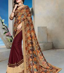 Buy Multicolor embroidered silk saree with blouse multicolor-saree online