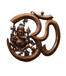 Buy Metal wall hanging of Lord Ganesha with Om wall-art online
