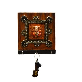 Kundan Lord Ganesha Key Holder