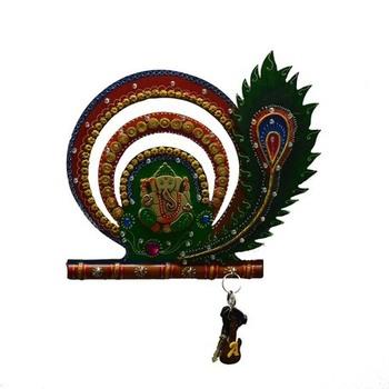 Lord Ganesha with Mor Pankh Key Holder