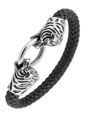 Llion Dragon Punk 316L Surgical Stainless Steel 100% Genuine Leather Bracelet Wrist Band Boys Men