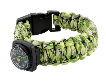 Black Compass Neon Green White Outdoor Camping Adventure Compass Wrist Band Bracelet For Boys Men