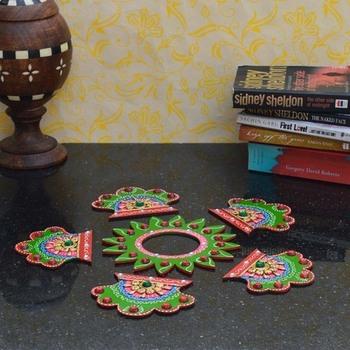 Decorative Floor Rangoli - Pankhi Design