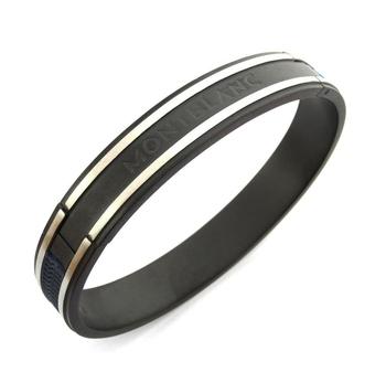 German Luxury Black Silver 316L Surgical Stainless Steel Kada Bangle Bracelet For Boys Men