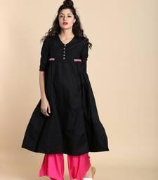 Black printed cotton kurtas and kurtis