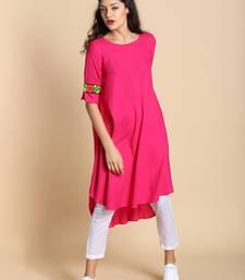 Pink printed cotton kurtas and kurtis