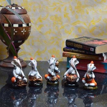 Lord Ganesha Music Team (set of 5)