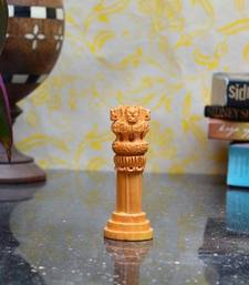 Buy Wooden Ashoka Pillar home-decor online