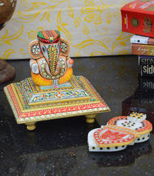 Buy Combo of Lord Ganesha Chowki and Marble Chopra sculpture online