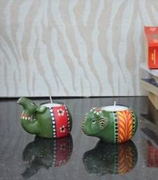 Buy Combo of Wooden Candle Stands candle online