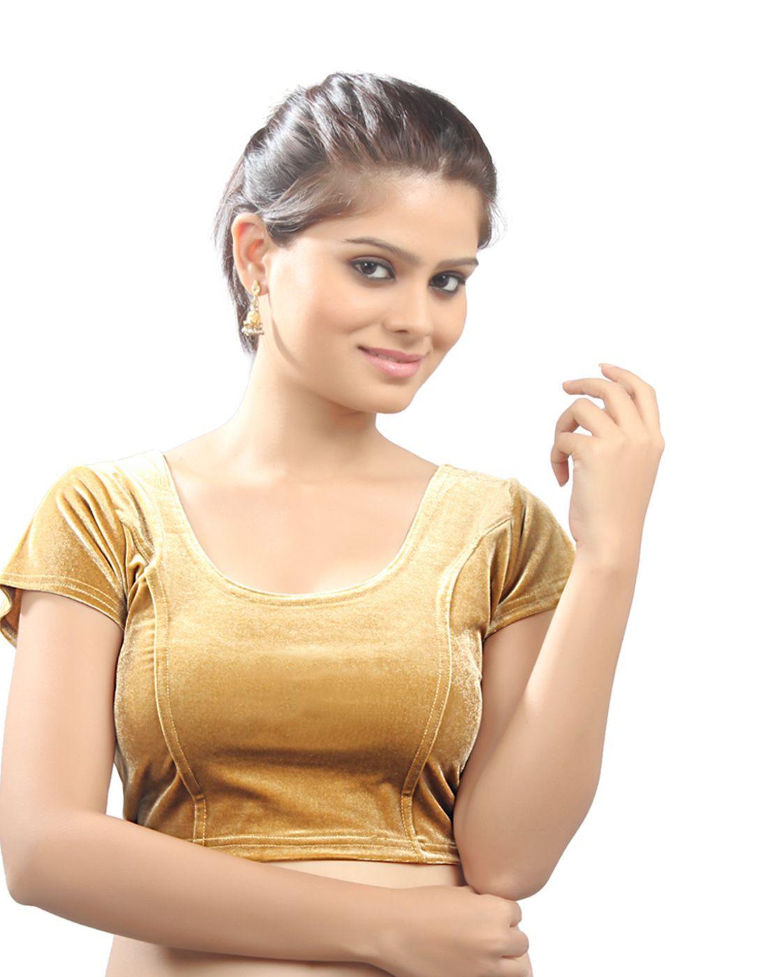 177f4534016734 Gold Velvet Stretchable Blouse. Size xL. - muhenera s - 293727
