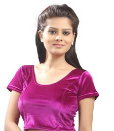 Dark Pink Velvet Stretchable Blouse. Size xL.