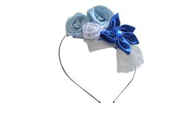 Flower cluster Hairband ( Blue)