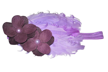 Feather toddler Headband(Eggplant )
