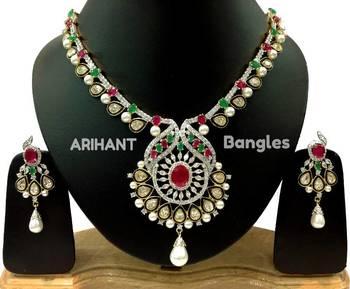 Arihant Bangles Alluring Diamond Kundan Bridal Set