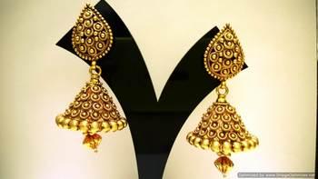 Stunning Antique Style Jhumka set