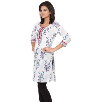 Multicolor printed cotton stitched kurtas-and-kurtis