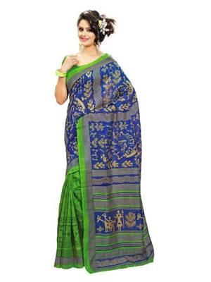 Beautiful Bhagalpuri style saree