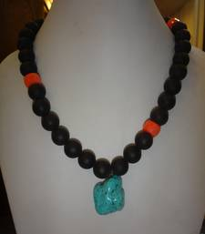Buy Exotic Black Turq Necklace online