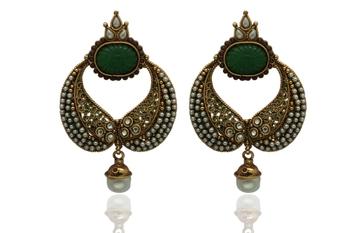 green gold earrings