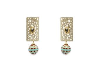 multi tone earrings