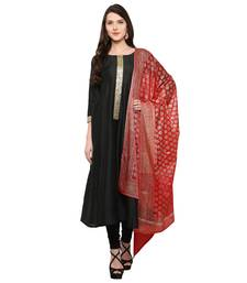 Black  silk ethnic-kurtis