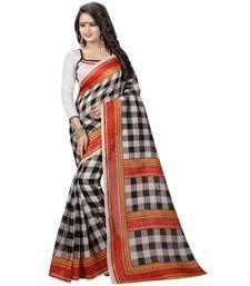 Buy Multicolor printed bhagalpuri silk saree with blouse printed-saree online
