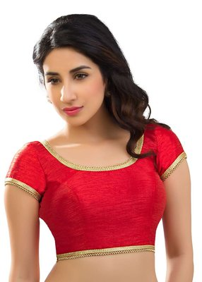 Red Color Banglory Designer Blouse Materials