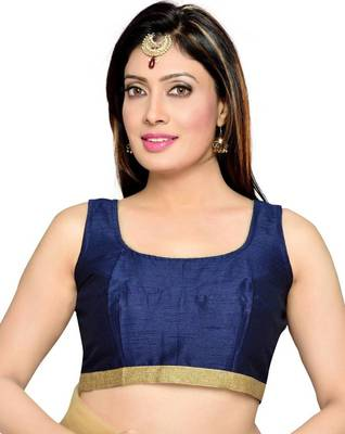 Nevy Blue Color Banglory Designer Blouse Materials