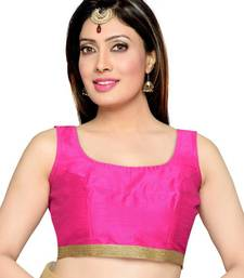 Pink Color Banglory Designer Blouse Materials