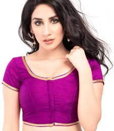 Purple Color Banglory Designer Blouse Materials