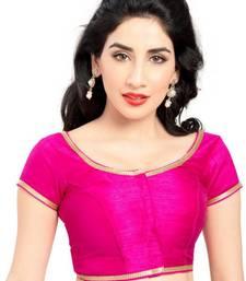Pink Color Banglory Designer Blouse Materials