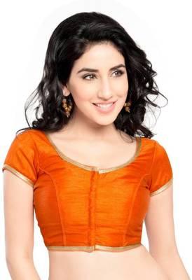 Orange Color Banglory Designer Blouse Materials