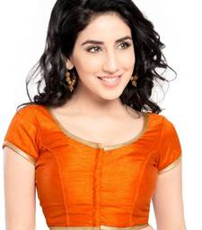 Orange Color Banglory Designer Blouse Materials