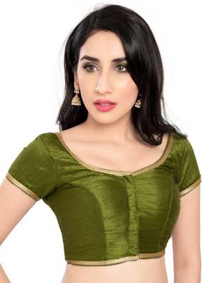 Mahendi Green Color Banglory Designer Blouse Materials
