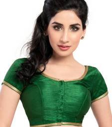 Green Color Banglory Designer Blouse Materials