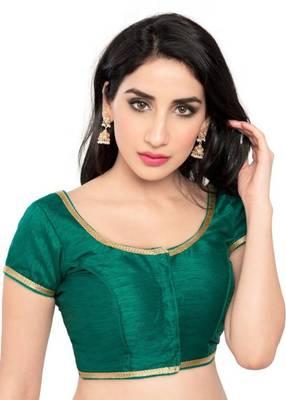 Rama Green Color Banglory Designer Blouse Materials
