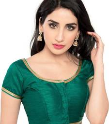 Buy Rama Green Color Banglory Designer Blouse Materials blouse-fabric online