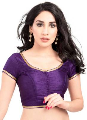 Brinjal Purple Color Banglory Designer Blouse Materials