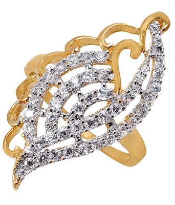 Hot Gold American Diamond Size 14 Finger Ring