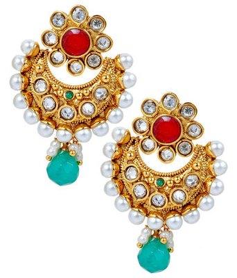 Superb Multicolour Pearl Push-Back Drop Earrings