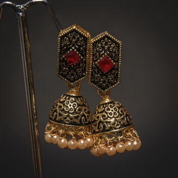 BEAUTIFUL BLACK MEENA JHUMKI