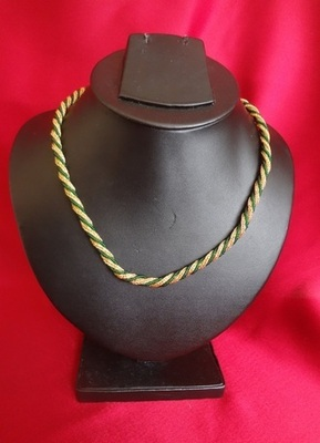 Golden Chain with Green Beads